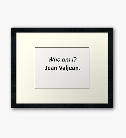 Jean Valjean Framed Print