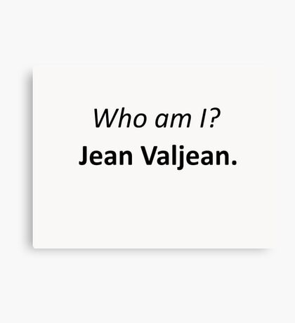 Jean Valjean Canvas Print