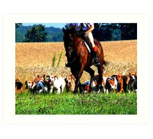 Fox Hunt in Gurnee, IL Art Print