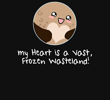 Pluto: My Heart is a Frozen Wasteland! Women's Fitted V-Neck T-Shirt
