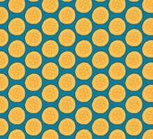 Orange Blue Summer Pattern by DoucetteDesigns