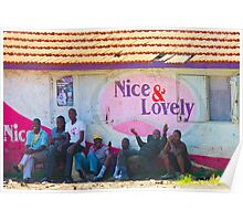 Nice & Lovely street vendors in Nairobi, KENYA Poster