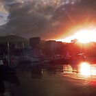 Harbour-side sunset - Hunter Street, Hobart by Jdoyle