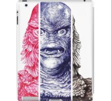 Creature From the Black Lagoon,  A ball point pen portrait.  iPad Case/Skin