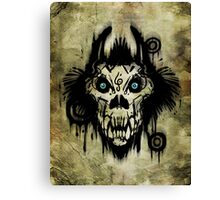 Ferocity White Canvas Print