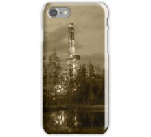 Oil drilling rig. iPhone Case/Skin