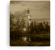 Oil drilling rig. Canvas Print