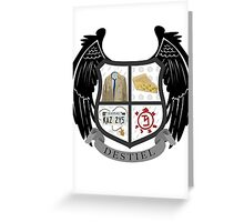 Destiel coat of arms Greeting Card