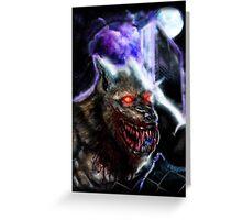 Werewolf-Blood Night Greeting Card