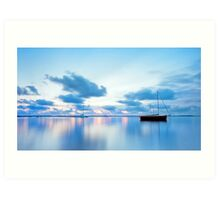 Tranquil Blue - Victoria Point Qld Art Print