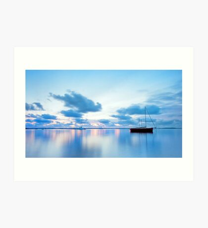 Tranquil Blue - Victoria Point Qld Art Print