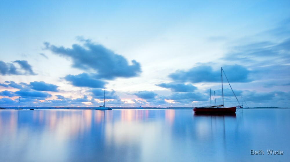 Tranquil Blue - Victoria Point Qld by Beth  Wode