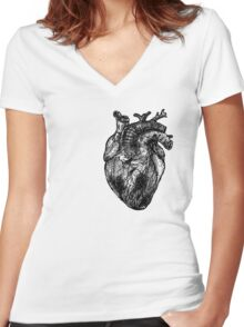 My Black Heart Women's Fitted V-Neck T-Shirt