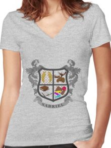 Sabriel coat of arms Women's Fitted V-Neck T-Shirt