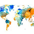 World Map Art - Map Of The World 14 - By Sharon Cummings by Sharon Cummings
