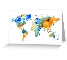 World Map Art - Map Of The World 14 - By Sharon Cummings Greeting Card
