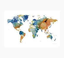 World Map Art - Map Of The World 14 - By Sharon Cummings Kids Tee