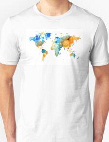 World Map Art - Map Of The World 14 - By Sharon Cummings T-Shirt