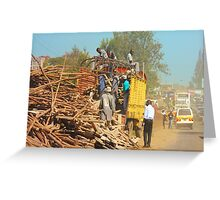 Transport Service in Nairobi, KENYA Greeting Card