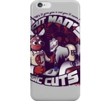 Cut Man's Classic Cuts iPhone Case/Skin