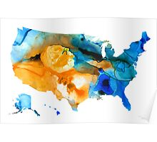 United States Map - America Map 9 - By Sharon Cummings Poster
