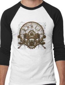 Vintage Steampunk Time Machine #1A Men's Baseball ¾ T-Shirt