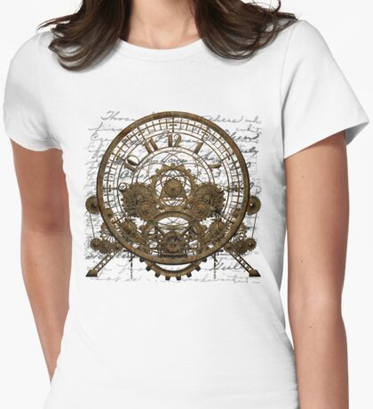 Vintage Steampunk Time Machine #1A Womens Fitted T-Shirt