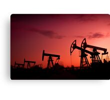 Oil pumps. Canvas Print