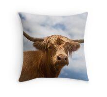 Highland Girl Throw Pillow