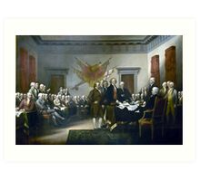 Signing The Declaration Of Independance Art Print