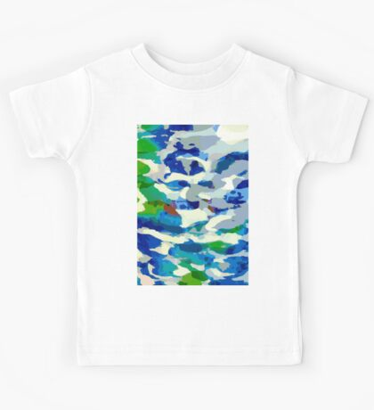 Abstract Army Pattern in Blue Kids Tee