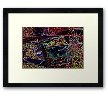 Black Mustang Framed Print
