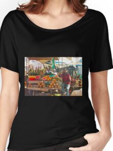 Fruits, Vegetables & Animals Bazar in Nairobi, KENYA Women's Relaxed Fit T-Shirt