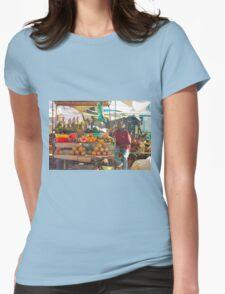 Fruits, Vegetables & Animals Bazar in Nairobi, KENYA Womens Fitted T-Shirt