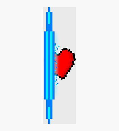 Heart through blue portal (version 1) Photographic Print