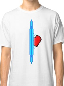 Heart through blue portal (version 1) Classic T-Shirt