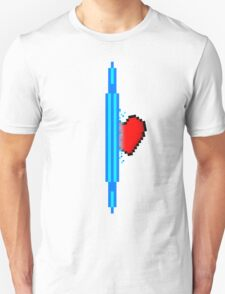 Heart through blue portal (version 1) T-Shirt