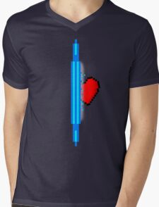 Heart through blue portal (version 1) Mens V-Neck T-Shirt