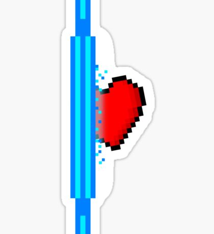 Heart through blue portal (version 1) Sticker