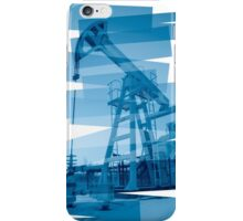 Pump jack abstract background. iPhone Case/Skin
