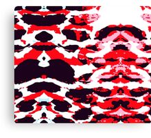 Abstract Army Pattern in Red Canvas Print