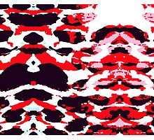 Abstract Army Pattern in Red Photographic Print
