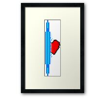 Heart through blue portal (version 2) Framed Print