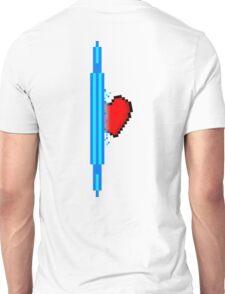 Heart through blue portal (version 2) Unisex T-Shirt