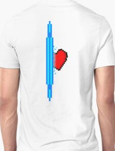 Heart through blue portal (version 2) T-Shirt
