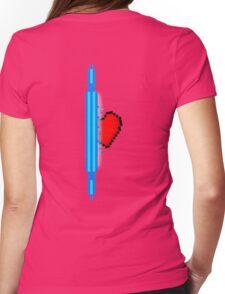 Heart through blue portal (version 2) Womens Fitted T-Shirt