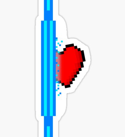 Heart through blue portal (version 2) Sticker