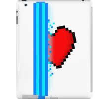 Heart through blue portal (version 2) iPad Case/Skin