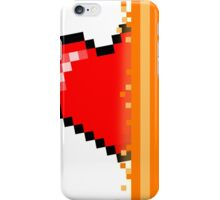 Heart through orange portal (version 2) iPhone Case/Skin