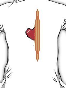 Heart through orange portal (version 2) T-Shirt